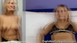Busty Coed Fucked and Facialed